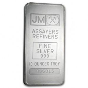 Johnson Matthey 10oz Silver Bar