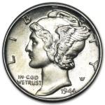 1916-1945 Mercury Dime in Brilliant Uncirculated Condition