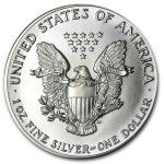 1987 American Silver Eagle Coin 1oz back