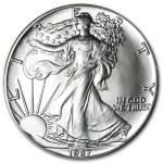 1987 American Silver Eagle Coin 1oz front