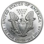 1988 Silver American Eagle Coin back
