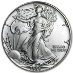 1988 Silver American Eagle Coin front