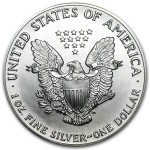1989 American Silver Eagle 1 oz coin back