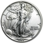 1989 American Silver Eagle 1 oz coin front