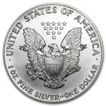 1990 American Silver Eagle 1oz coin back