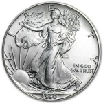 1990 American Silver Eagle 1oz coin front