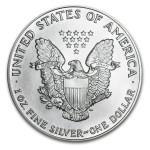 1991 American Silver Eagle 1oz Coin back