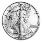 1991 American Silver Eagle 1oz Coin front