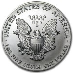 1992 American Silver Eagle 1 oz coin back