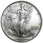 1992 American Silver Eagle 1 oz coin front