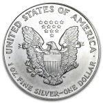 1993 American Silver Eagle 1oz coin back