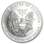 1995 American Silver Eagle 1oz coin back