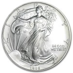 1995 American Silver Eagle 1oz coin front