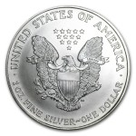 1997 American Silver Eagle 1oz coin back
