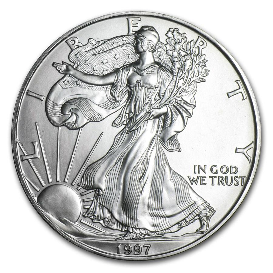 1997 American Silver Eagle 1oz coin front