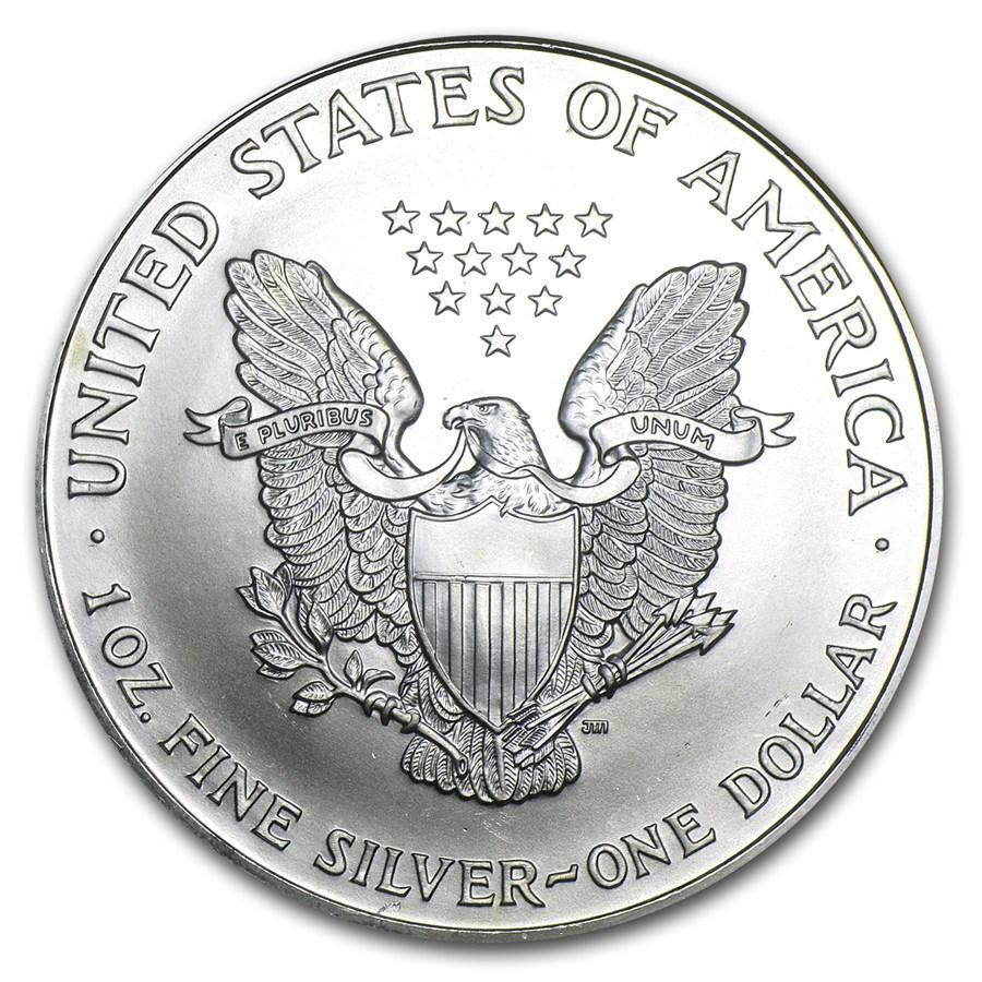 1999 American Silver Eagle 1oz Coin From U S Mint Bu