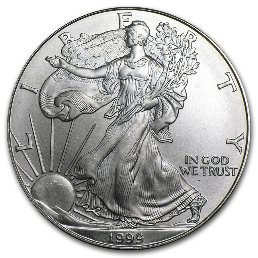 1999 American Silver Eagle 1oz coin front