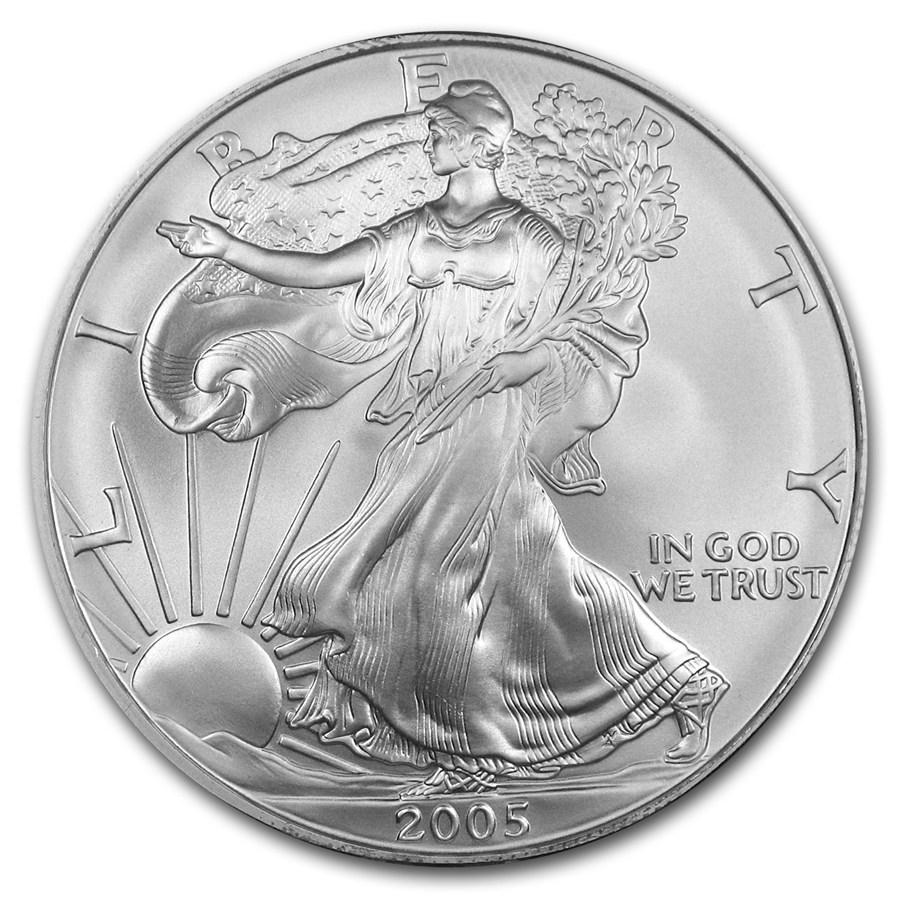 2005 American Silver Eagle 1oz coin front