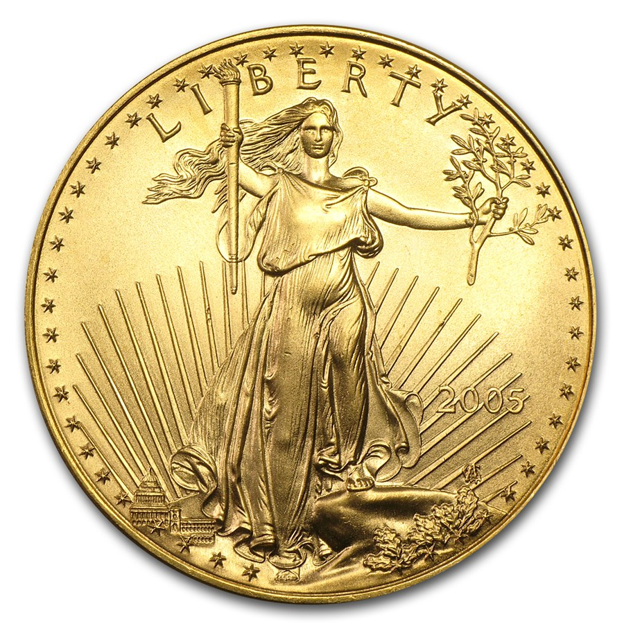 2005 Gold Eagle 1oz front