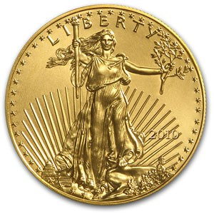 2010 1/0 Ounce American Gold Eagle coin front