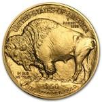 2012 Gold Buffalo 1 oz coin back