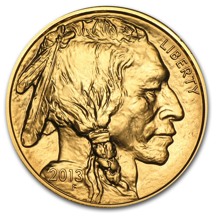 2012 Gold Buffalo 1 oz coin front