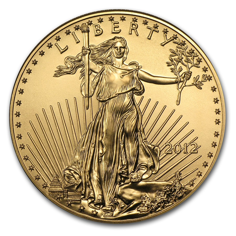 2012 Gold Eagle 1 oz coin front
