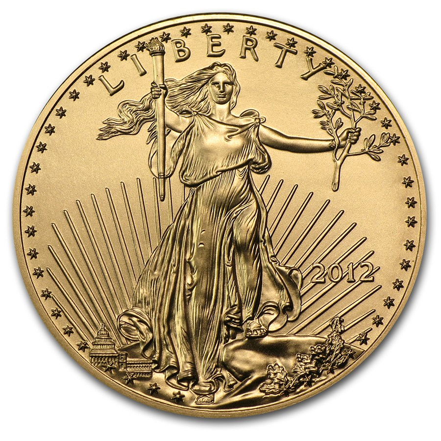 2012 half ounce American Gold Eagle Coin front