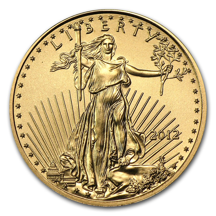 2012 U S Mint 1 10 Oz Gold Eagle Coin Bu